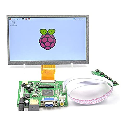 GeeekPi 7 inch 1024x600 HDMI Screen LCD Display with Driver Board Monitor for Raspberry Pi