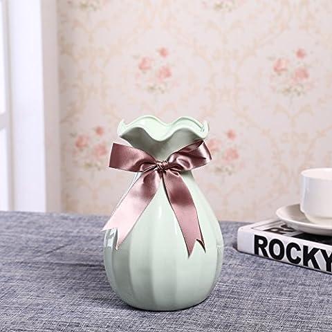 Maivas Décoration Vase en céramique Blanc moderne simples Home ameublement