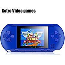 """Handheld Game Console, SZZHCKJ 2.7 """"LCD 16Bit Retro Video Game Consoles Best Gift for Children kids Built in 100+ games"""