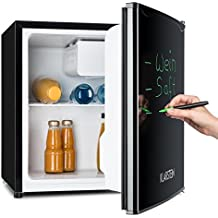 Klarstein Spitzbergen ACA Mini Nevera con congelador (capacidad 40 litros, clase energética A+, refrigerador compacto, marcador mágico) - Negro