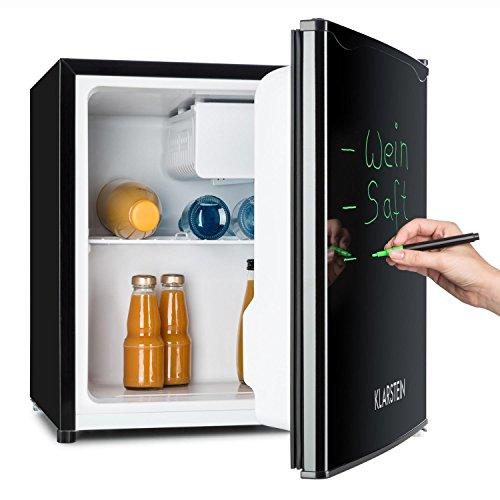 Klarstein • Spitzbergen Aca • Minibar • Mini-Kühlschrank • Getränkekühlschrank • A+ • 40 Liter • 47 x 48 x 44 cm (BxHxT) • beschreibbare Kühlschranktür • Regaleinschub • Türflaschenablage • kleines Gefrierfach mit Tropfschale • regelbare Temperatur • schwarz