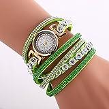 Fashion Watches Schöne Uhren, Damen Modeuhr/Armbanduhr/Armband-Uhr Quartz Mehrfarbig PU Band Vintage/Böhmische/Bettelarmband/Armreif/Cool/BequemSchwarz/