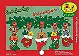 Fischer Fensterbild WEIHNACHTSGABEN / Bastelpackung / ca.84x50 cm / zum Selberbasteln / Basteln mit Papier und Pappe für Weihnachten