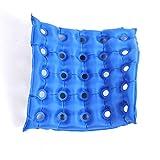 GxNI Medizinischer Luft-Sitz-aufblasbarer Büro-Auto-Rollstuhl-quadratisches Kissen-Kissen-Matratzen-medizinischer Rad-Stuhl-Luftkissen-aufblasbare Sitz-Matratze Anti-Dekubitus-Dekubitus-Dekollitus-Ideal-Pflege-Auflagen, blau , A