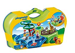 Playmobil 6792 1.2.3 Take Along Zoo and Aquarium - Multi-Coloured
