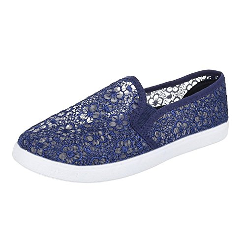 Chaussons Chaussures pointes stretch, AC 41, Chaussures basses femme Bleu - Bleu