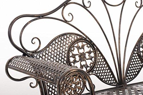 CLP Metall-Gartenbank TJURE im Landhausstil, Eisen lackiert, ca. 140 x 60 cm Bronze - 5
