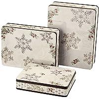 Hutschenreuther 02463-725692-05583, Set di 3 scatole per biscotti, rettangolare, stile invernale romantico, 27 - 24,5 - 20 cm