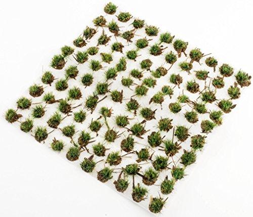 War World Scenics 4mm Waldboden Selbstklebende Statische Grasbüschel x 100 - Modellbahn Modellbau Tabletop Gelände Diorama