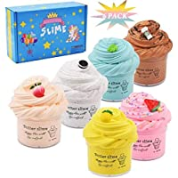 Cutiecute 6 Pack Butter Slime Kit,Super Soft & Non-Sticky, Stress Relief Toy Scented Sludge Toy for Kids Education, Party Favor, Gift and Birthday(6 Pack 100ml*6) (A)