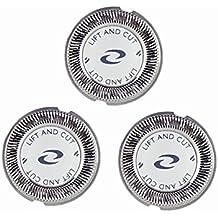 Sorliva 3PCS Cabezales de afeitado Electrónico máquina de afeitar la cabeza hojas de afeitar reemplazo de láminas y cuchillas para Philips (3PCS)