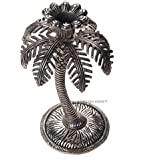 DreamKraft Palm Tree Single Candle Stand for Home Decor(10X10X15 cm)