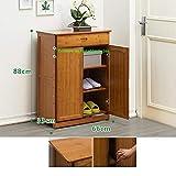 AA100 Fensterläden Schuhschrank Doppeltür montiert aus reinem Bambus Holz Korridor Bad Lagerung Schuhschrank Multi-Layer einstellbar (66 * 33 * 88cm),B