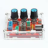 iHaospace Fully Assembled & Acrylic Case XR2206 High Precision Function Signal Generator DIY Kit Sine/Triangle/Square Output 1Hz-1MHz Adjustable Frequency Amplitude