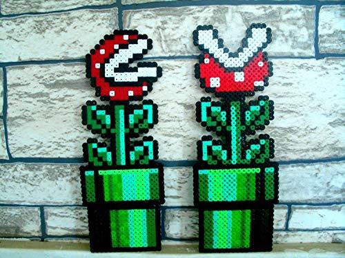 Perle Pflanze (Sprite 1x Fleisch fressenden Pflanzen von Mario Bros Hama Perlen • • Pixel Art Perler Perlen repräsentieren)