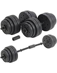 DTX Fitness Set Haltère & Poids 30kg Reglable Pour Musculation – Noir