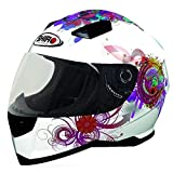Shiro SH-881 Princess - Casco integral de moto, color blanco y rosa Blanc / Rose Talla:small