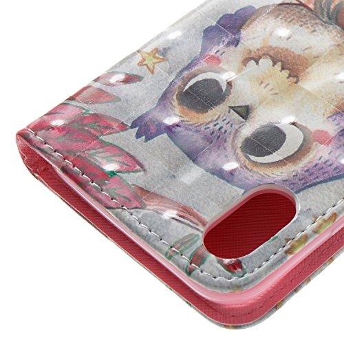 """Für iPhone X 5.8"""" Ledertasche Handy Hülle,Kartenfach Schutzhülle Mappe Flip Wallet Case,Herzzer Book Style Prämie Standfunktion Schutz PU Leder Magnetverschluss Schale Brieftasche Tasche Hülle Case Co gufo"""
