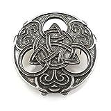 Brosche mit Triquetra und keltischen Knoten - Silber