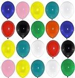 bestehemden 100 große Premium Luftballons Bunt Markenqualität Helium Ballongas Geeignet Naturlatex 100% giftfrei Geburtstagsparty Hochzeit Partyballon Farbige Ballons