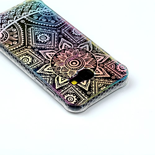 iPhone 7 Plus Cover, iPhone 8 Plus Cover, WindTeco Divertente Motivo Design Colorato Cristallo Trasparente Ultra Sottile Morbido TPU Gel Case Cover per Apple iPhone 7 Plus / iPhone 8 Plus Fiore Mandala