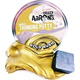 "Gold Rush With Magnet Magnetic Crazy Aaron's Thinking Putty Lg 4"" Tin"