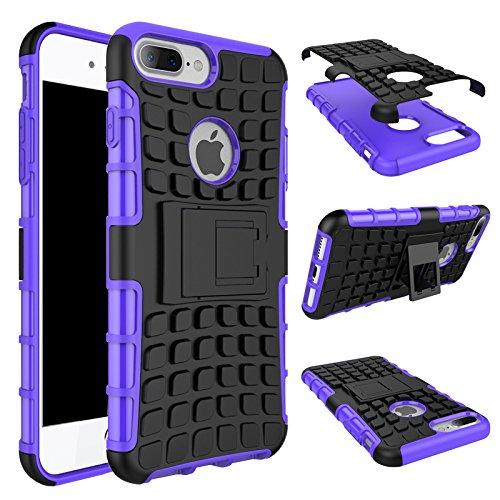 iPhone 7 Plus Hülle, iPhone 8 Plus Hülle, Valenth Armor Drop Beweis Ganzkörper Rückseiten Cover Hülle für iPhone 8 Plus / iPhone 7 Plus Lila