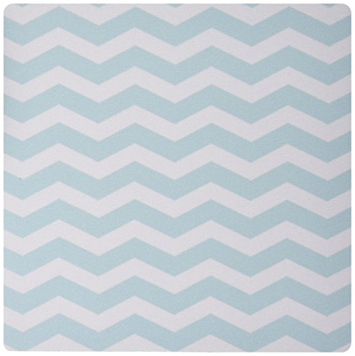 3dRose LLC 8 x 8 x 0.25 Inches Mouse Pad, Mint and White Chevron Zig Zag Pattern Modern Stylish Pastel Teal Turquoise Aqua Blue Zigzag Stripes (mp_120235_1)