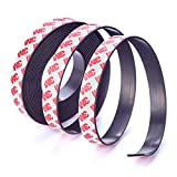 Magnetband selbstklebend – extra lang (5m x 2cm x 2mm) – zuschneidbar – stark – Bester 3M-Kleber – Schwerer Karton, Plakate, Büro, Haushalt