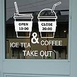 XiaoGao café, milch, tee, nachtisch, getränke - shop, öffnungszeiten, glaswand aufkleber,brauner