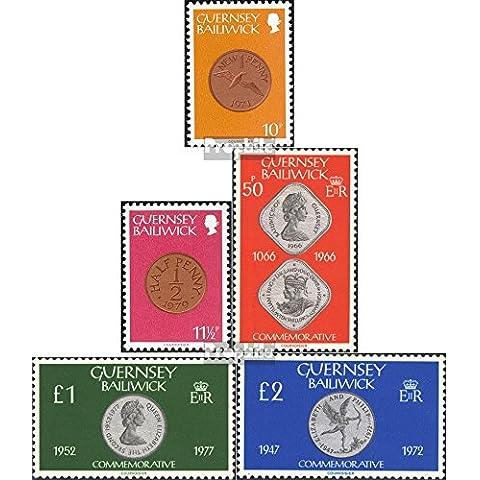 sellos para coleccionistas: Gran Bretaña-Guernesey 199-203 (completa.edición.) nuevo con goma original 1980