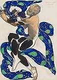 Vintage Ballet disfraz de Leon Bakst diseño de Nijinsky en l 'apres Midi d 'un fauno 250gsm brillante Art Tarjeta A3reproducción de póster