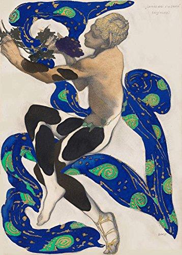 Vintage Ballett Leon Bakst Kostüm Design für Nijinsky in L 'Apres Midi d 'un Faun 250gsm, Hochglanz, A3, vervielfältigtes - Bakst Kostüm Designs