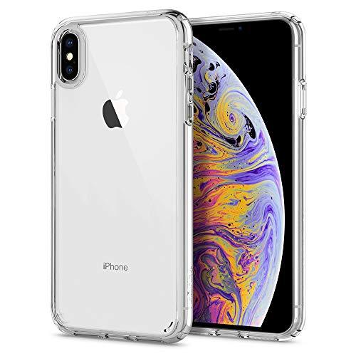 spigen Ultra Hybrid Funda iPhone XS MAX con Tecnología de cojín de Aire y protección híbrida de la Gota para iPhone XS MAX 6.5' (2018) - Transparente