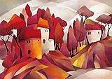 empireposter Funke, Gisela - Fairy-Like III - Kunstdruck Artprint - Grösse 70x50 cm + 2 St. Posterleisten Kunststoff 93 cm schwarz