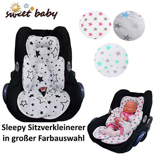 Preisvergleich Produktbild Sweet Baby ** SLEEPY Auto-Sitzverkleinerer / NeugeborenenEinsatz Antiallergikum ** Passend für Babyschalen Gr. 0/0+ und Gr. 1 ** Ideal auch für Maxi Cosi, Cybex etc. sowie Kinderwagen, Babywanne etc. (Blue Stars)