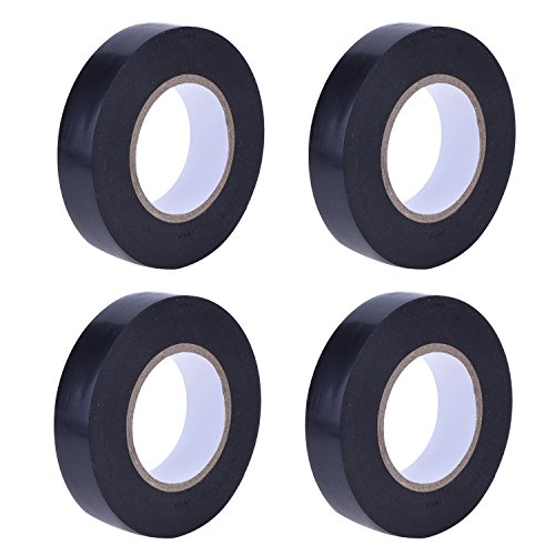 Price comparison product image Blulu 0.6 Inch Black Electrical Tape Electrical Insulation Tape, 50 Feet, 4 Pack