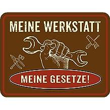 Meine Werkstatt   Blech Schild Spruch   Blechschild 22x17 Cm