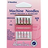Hemline Machine Needles broderie 75/11 (Fine)