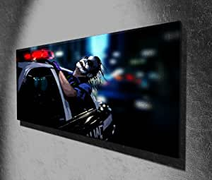 The Joker Batman Dark Knight Panoramic Movie Canvas Print Picture 50 x 20 inch Large Canvas Art Print Picture Poster, Ready To Hang New