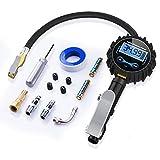 Numérique Manomètre Pneu 250 PSI, SONRU Gonfleur de pneu avec écran LCD, Accessoires de mandrin d'air et de compresseur, Tuyau en caoutchouc résistant, Coupleur à connexion rapide