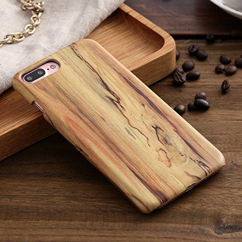 Custodia Cover per iPhone 7 plus, iPhone 7 plus Case Cover Morbido con Impressionante texture di superficie legno design, Ukayfe Silicone TPU Flessibile Custodia Backcover Case Cover per iPhone 7 plus Cenere