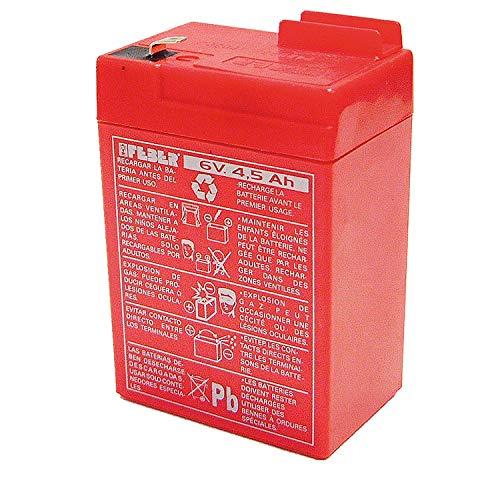 Famosa 800003104 - Batteria 6V 4.5Ah, Rosso