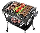 BBQgrill | Tischgrill | ELEKTRO GRILL | Partygrill | elektrischer Grill | BBQ Elektrogrill | 2000 W. | Cool Touch Griffe | Rauchfrei (Elektro Grill mit STANDFÜSSEN)