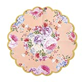 Talking Tables Decorations Tea Party Floral Napkins Scalloped Paper Truly Scrumptious Pink, 20 Pack, Noël