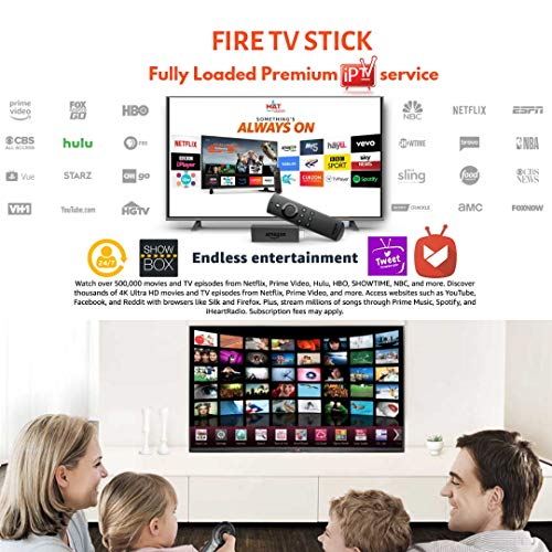 Amazon FireTVstick 4k HDR with All New Alexa Voice Remote + Fully Loaded  1Year tweet Premium IPTV