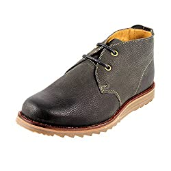 Urban Country Mens Black Leather Boots -7 UK