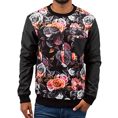 Just Rhyse Homme Hauts / Pullover Rose Noir