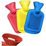 Medipaq® Mini Hot Water Bottles - 3 Pack - One of Each Colour