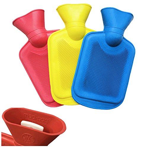 Medipaq Mini Wärmflaschen – 3er Pack – Eine Von Jeder Farbe